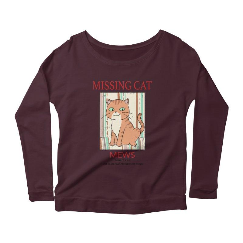 Mrs Henderson's Cat V2 Women's Scoop Neck Longsleeve T-Shirt by xiaobaosg