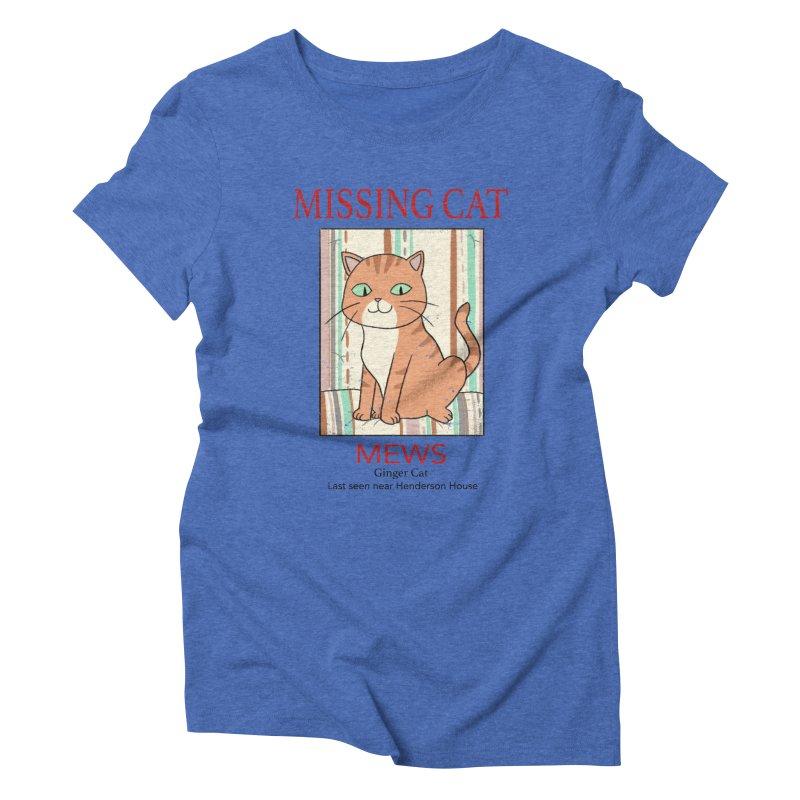 Mrs Henderson's Cat V2 Women's Triblend T-Shirt by xiaobaosg