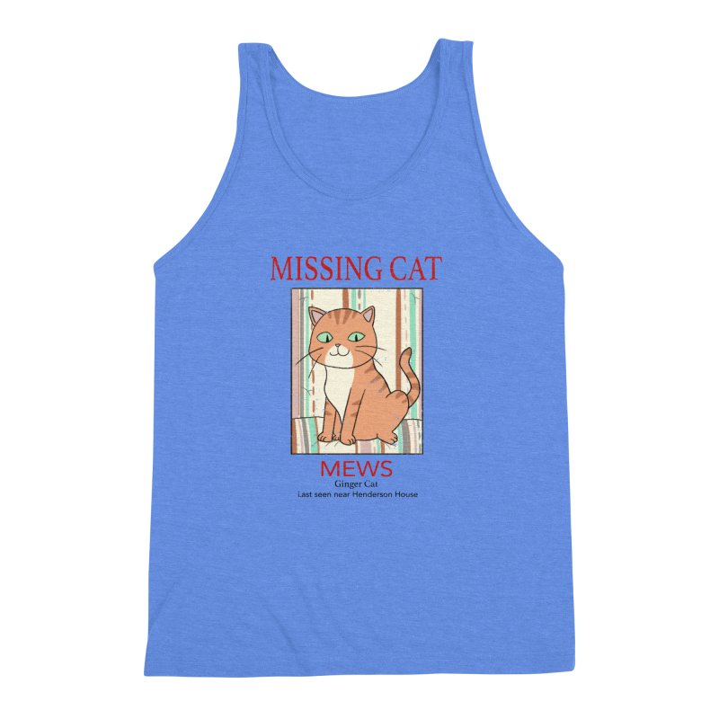 Mrs Henderson's Cat V2 Men's Triblend Tank by xiaobaosg