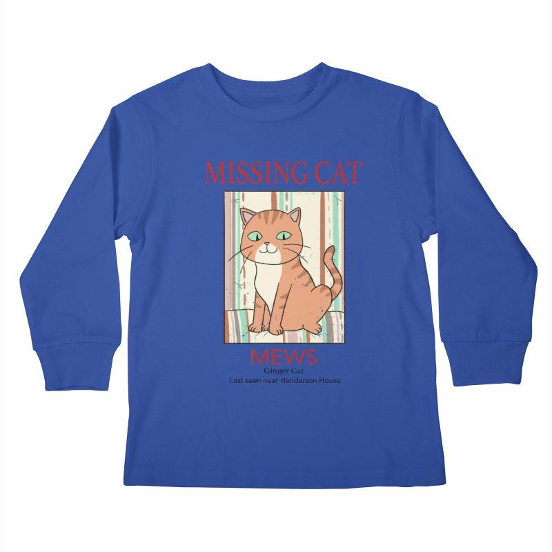 Mrs Henderson's Cat V2 Kids Longsleeve T-Shirt by xiaobaosg