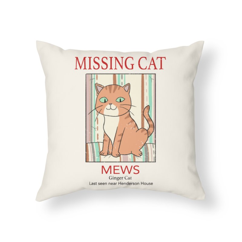 Mrs Henderson's Cat V2 Home Throw Pillow by xiaobaosg