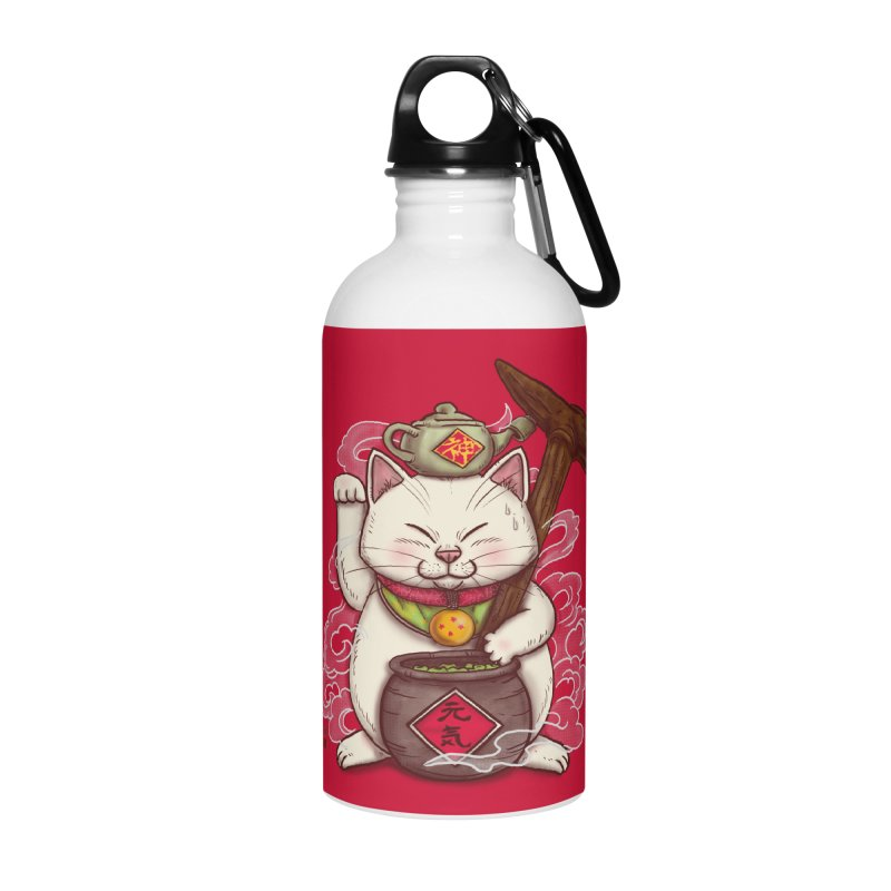 Maneki Senbyo Accessories Water Bottle by xiaobaosg