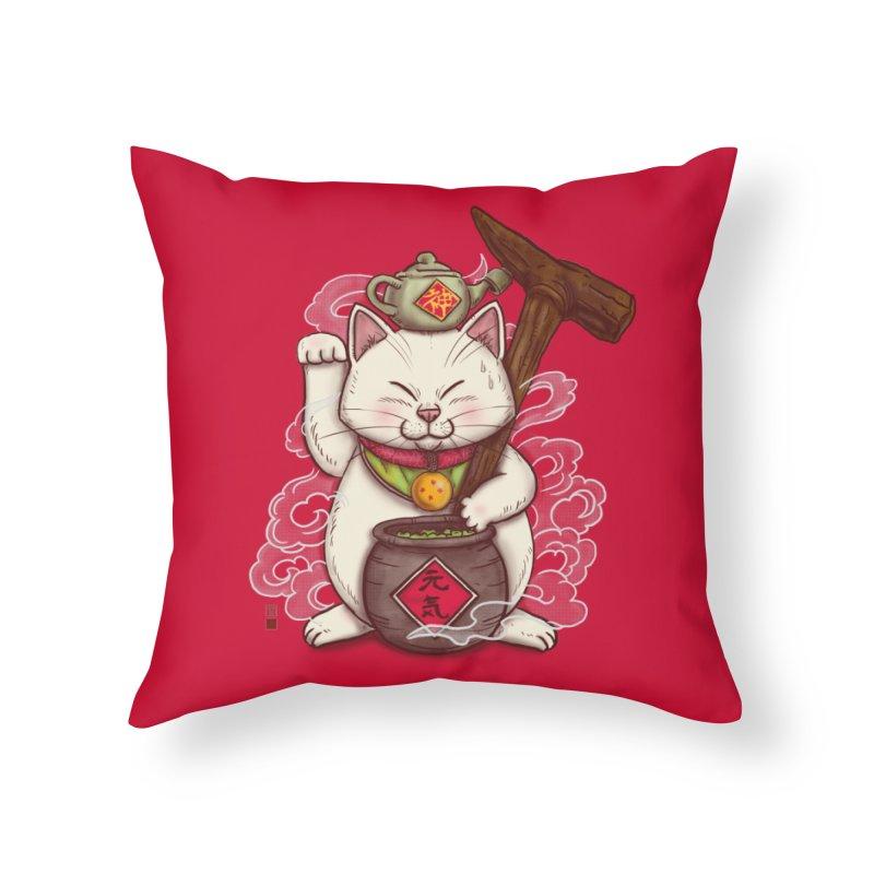 Maneki Senbyo Home Throw Pillow by xiaobaosg