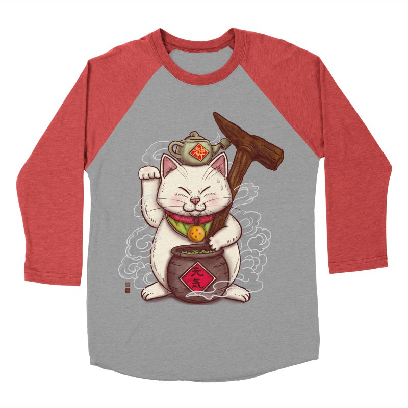 Maneki Senbyo Men's Baseball Triblend Longsleeve T-Shirt by xiaobaosg