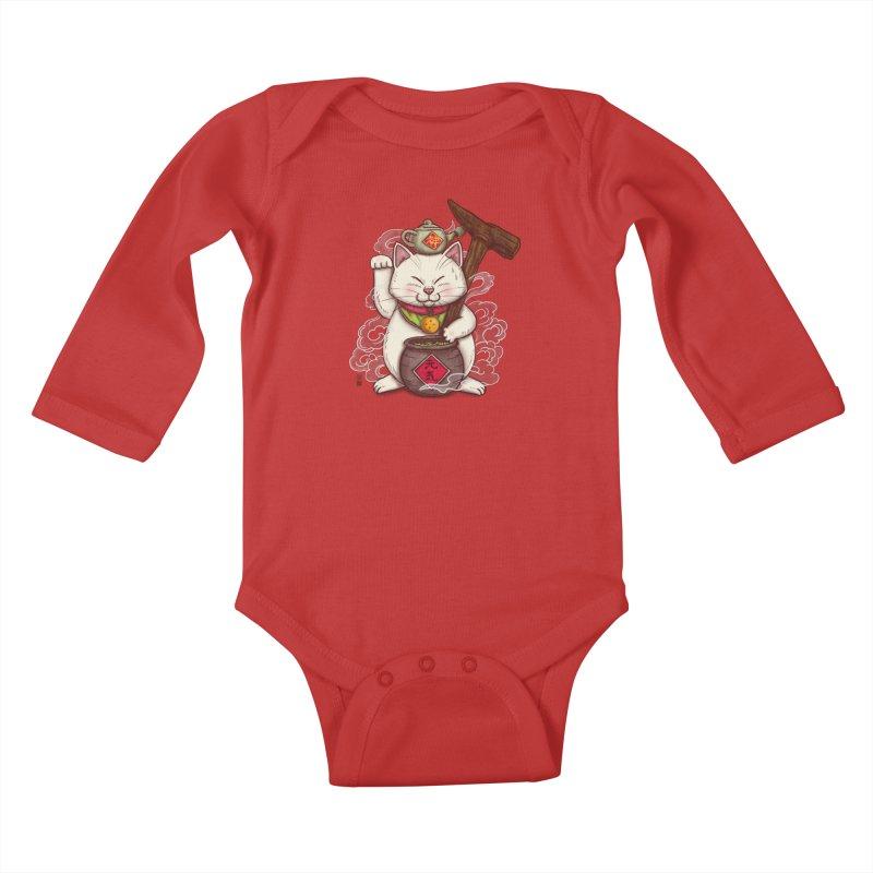 Maneki Senbyo Kids Baby Longsleeve Bodysuit by xiaobaosg