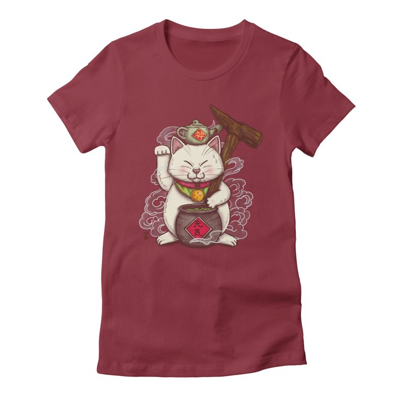 Maneki Senbyo Women's Fitted T-Shirt by xiaobaosg