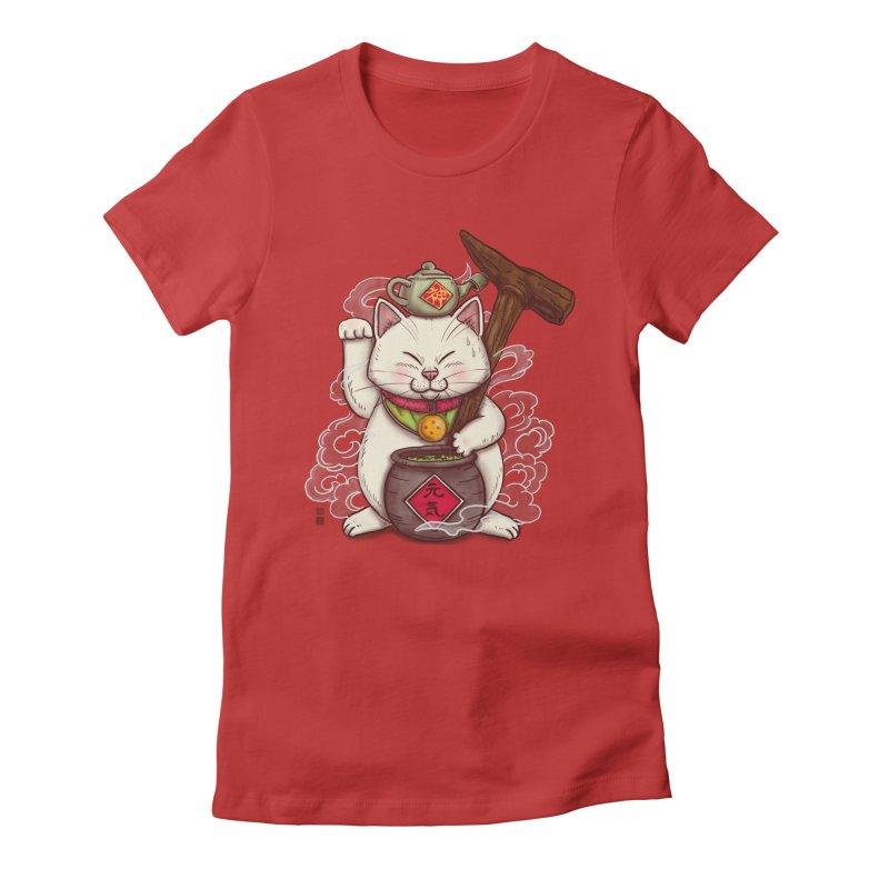 Maneki Senbyo Women's Fitted T-Shirt by xiaobaosg
