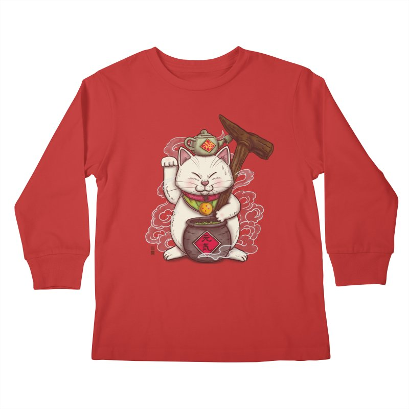 Maneki Senbyo Kids Longsleeve T-Shirt by xiaobaosg