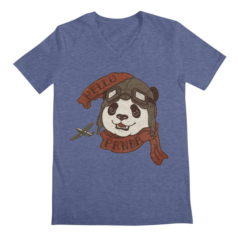 Panda Revolution EXTRA 2 C Men's Regular V-Neck by xiaobaosg