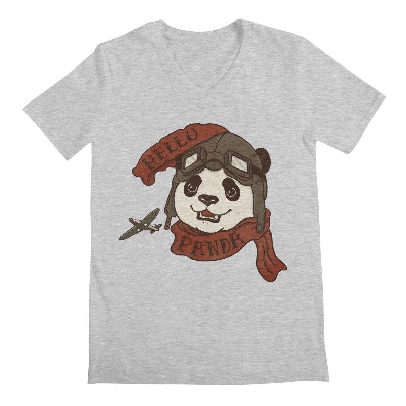 Panda Revolution EXTRA 2 C Men's V-Neck by xiaobaosg