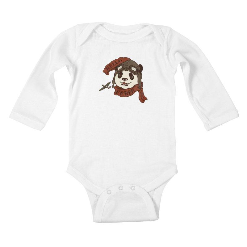 Panda Revolution EXTRA 2 C Kids Baby Longsleeve Bodysuit by xiaobaosg