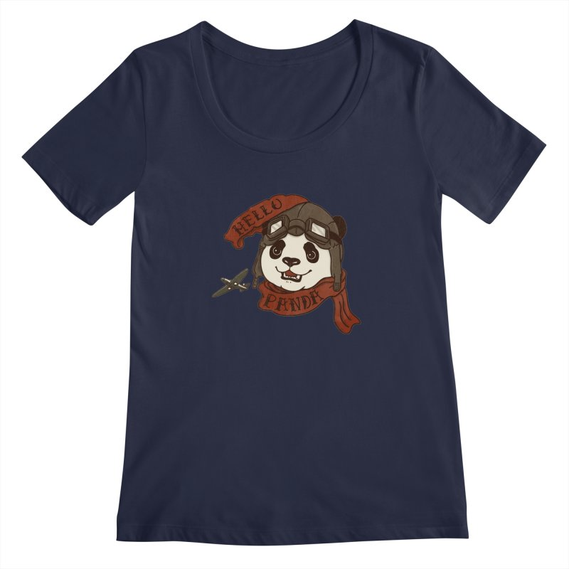 Panda Revolution EXTRA 2 C Women's Scoopneck by xiaobaosg