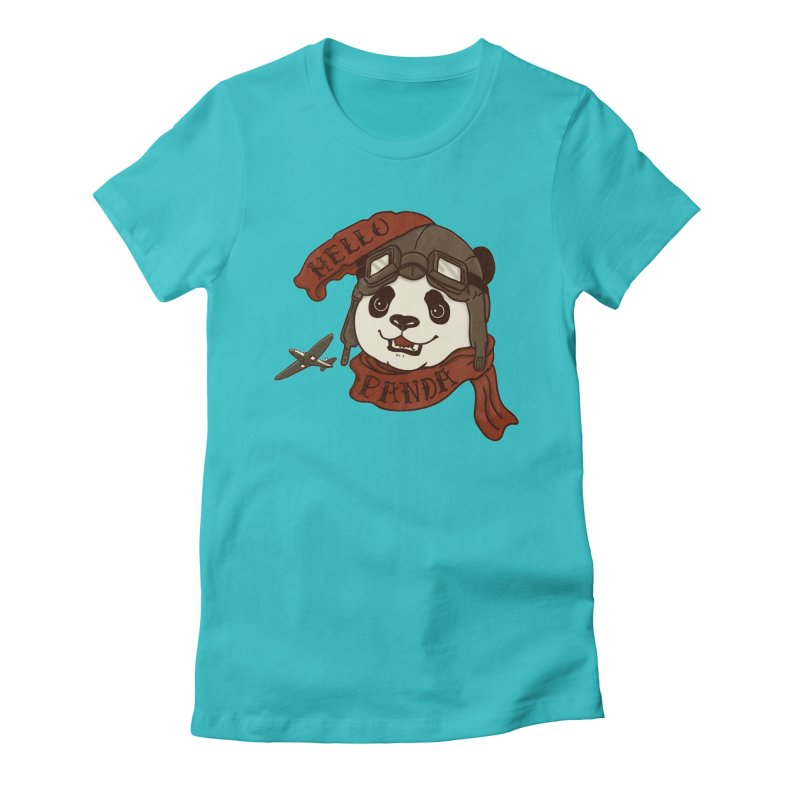 Panda Revolution EXTRA 2 C Women's Fitted T-Shirt by xiaobaosg