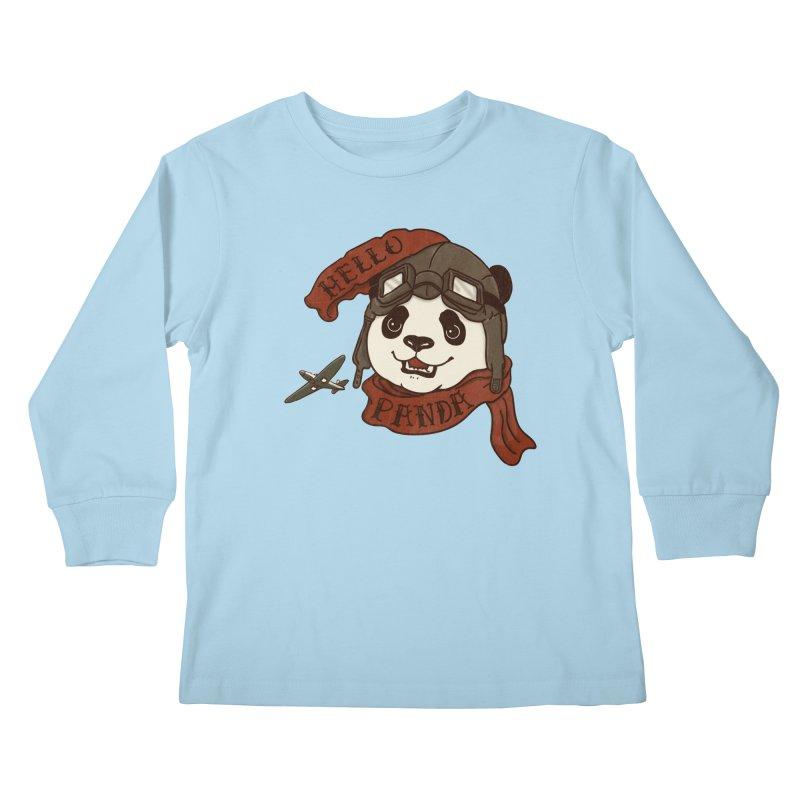 Panda Revolution EXTRA 2 C Kids Longsleeve T-Shirt by xiaobaosg
