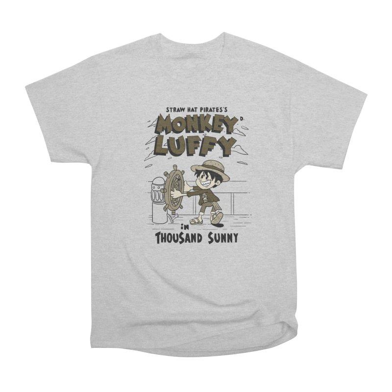 Steamboat Luffy Classic Monotone Ver Women's Heavyweight Unisex T-Shirt by xiaobaosg