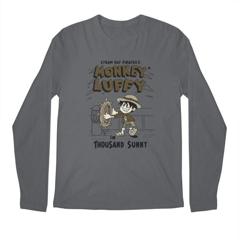 Steamboat Luffy Classic Monotone Ver Men's Regular Longsleeve T-Shirt by xiaobaosg