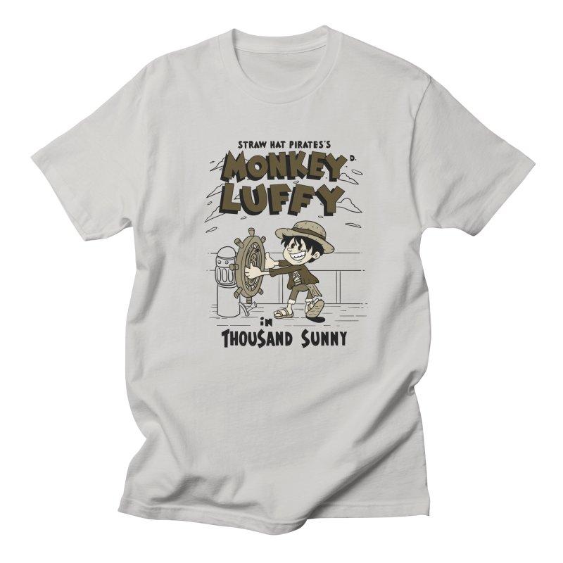 Steamboat Luffy Classic Monotone Ver Men's Regular T-Shirt by xiaobaosg