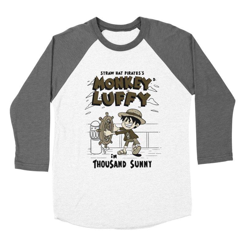 Steamboat Luffy Classic Monotone Ver Women's Baseball Triblend Longsleeve T-Shirt by xiaobaosg