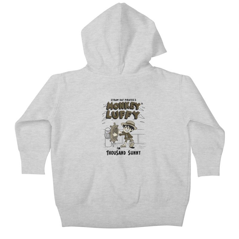Steamboat Luffy Classic Monotone Ver Kids Baby Zip-Up Hoody by xiaobaosg