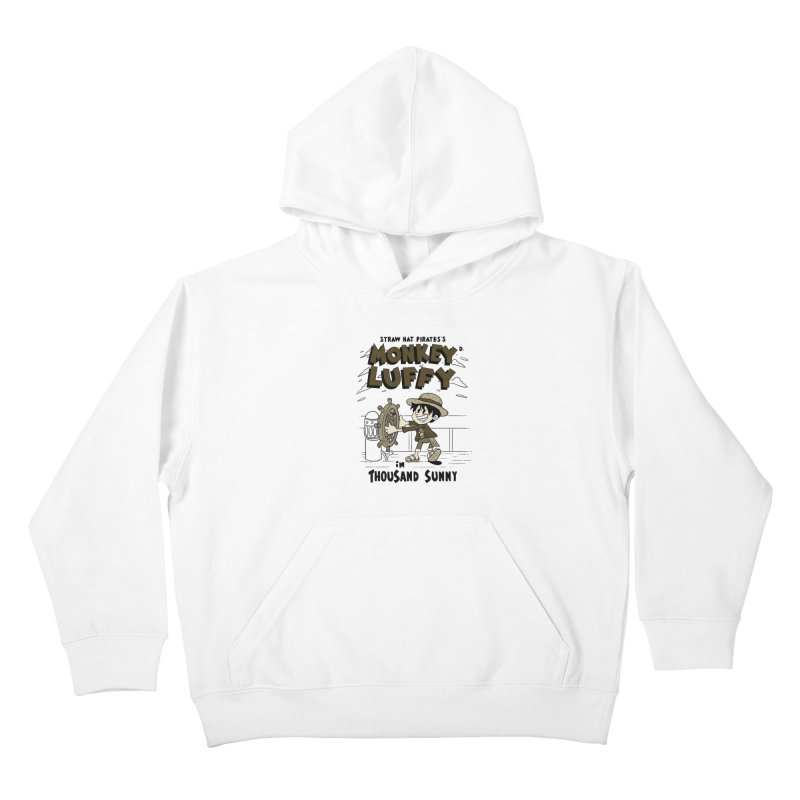 Steamboat Luffy Classic Monotone Ver Kids Pullover Hoody by xiaobaosg