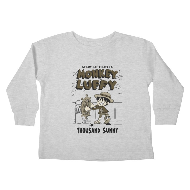 Steamboat Luffy Classic Monotone Ver Kids Toddler Longsleeve T-Shirt by xiaobaosg