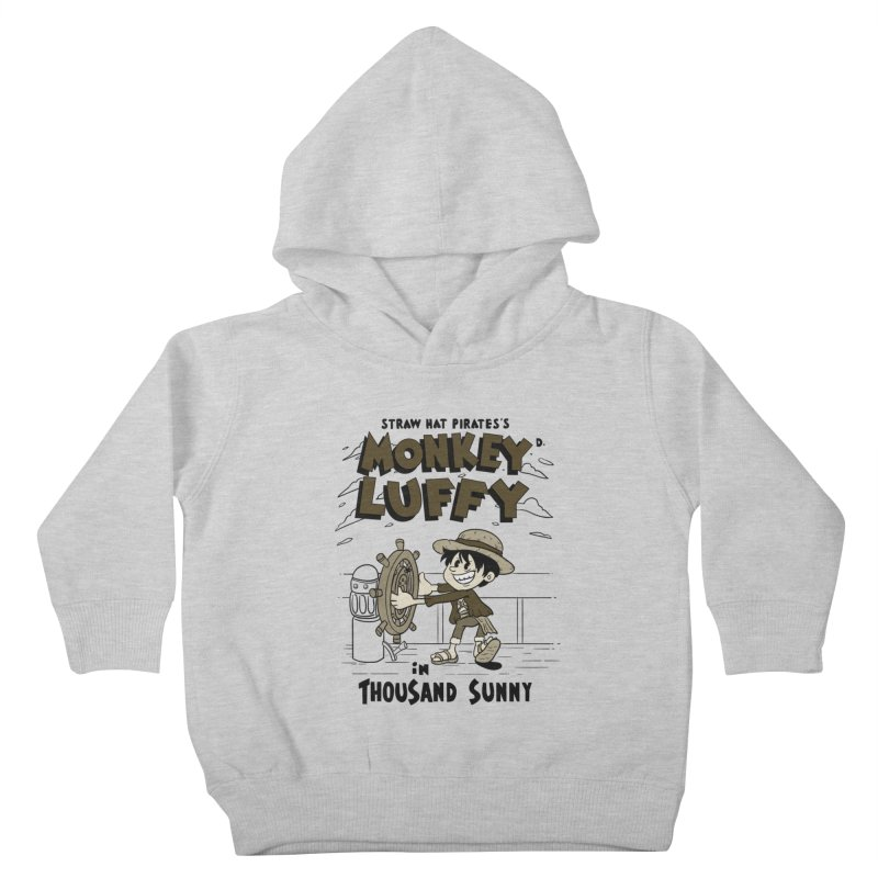 Steamboat Luffy Classic Monotone Ver Kids Toddler Pullover Hoody by xiaobaosg