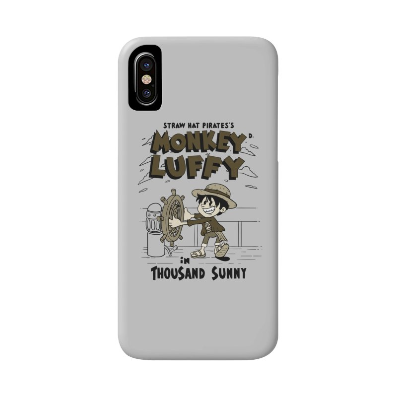Steamboat Luffy Classic Monotone Ver Accessories Phone Case by xiaobaosg