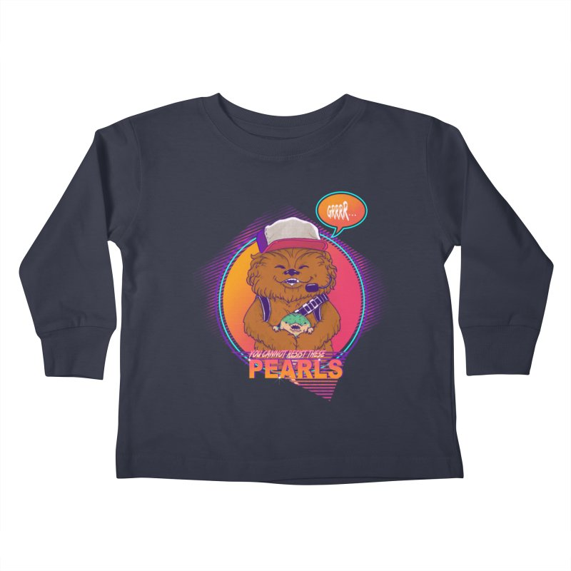 You cannot resist these pearls Kids Toddler Longsleeve T-Shirt by xiaobaosg