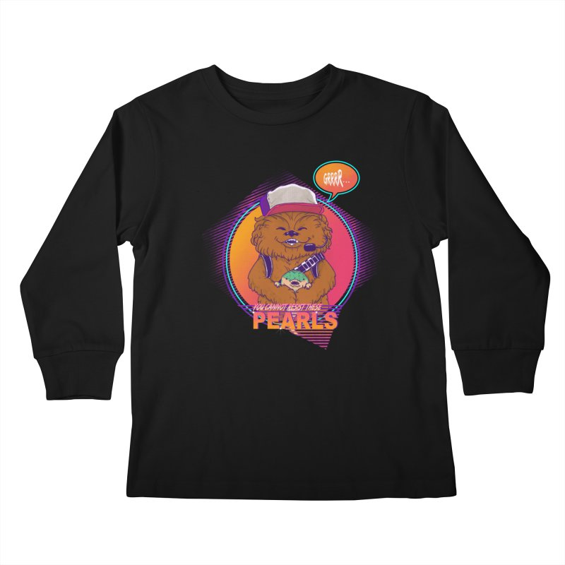 You cannot resist these pearls Kids Longsleeve T-Shirt by xiaobaosg