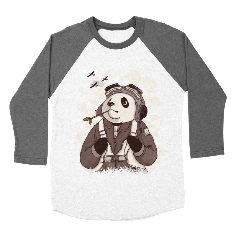 Keep Us Flying Men's Baseball Triblend Longsleeve T-Shirt by xiaobaosg