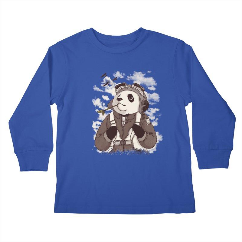 Keep Us Flying Kids Longsleeve T-Shirt by xiaobaosg
