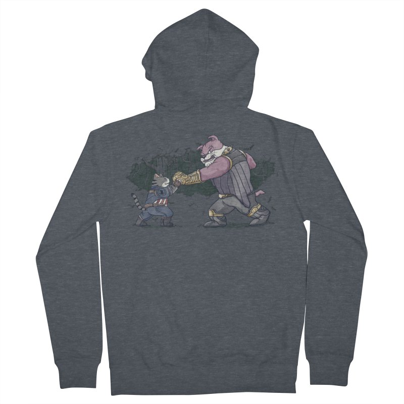 Against the Titan Men's French Terry Zip-Up Hoody by xiaobaosg