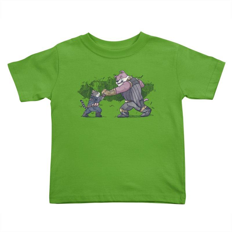 Against the Titan Kids Toddler T-Shirt by xiaobaosg