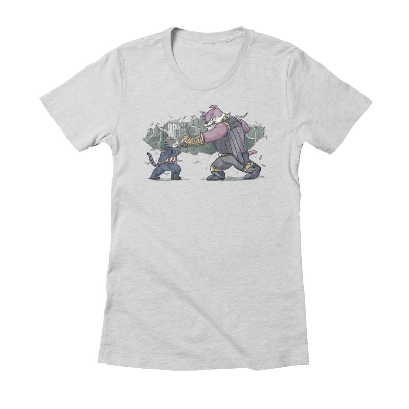 Against the Titan Women's Fitted T-Shirt by xiaobaosg