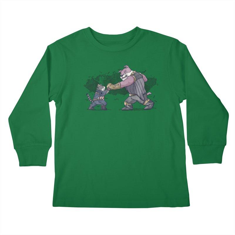 Against the Titan Kids Longsleeve T-Shirt by xiaobaosg