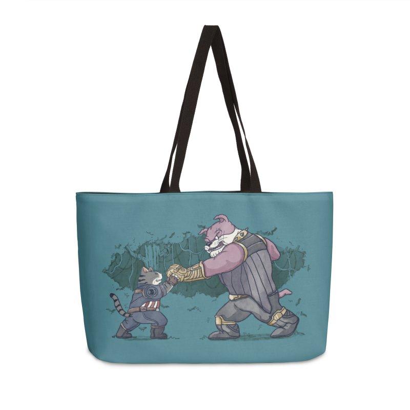 Against the Titan Accessories Weekender Bag Bag by xiaobaosg