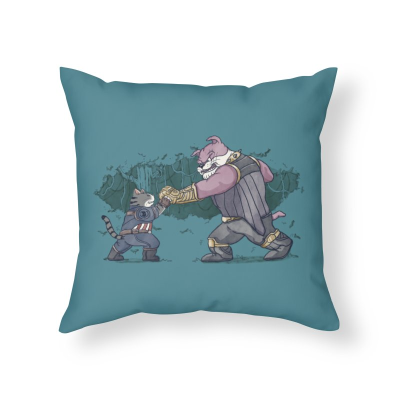 Against the Titan Home Throw Pillow by xiaobaosg