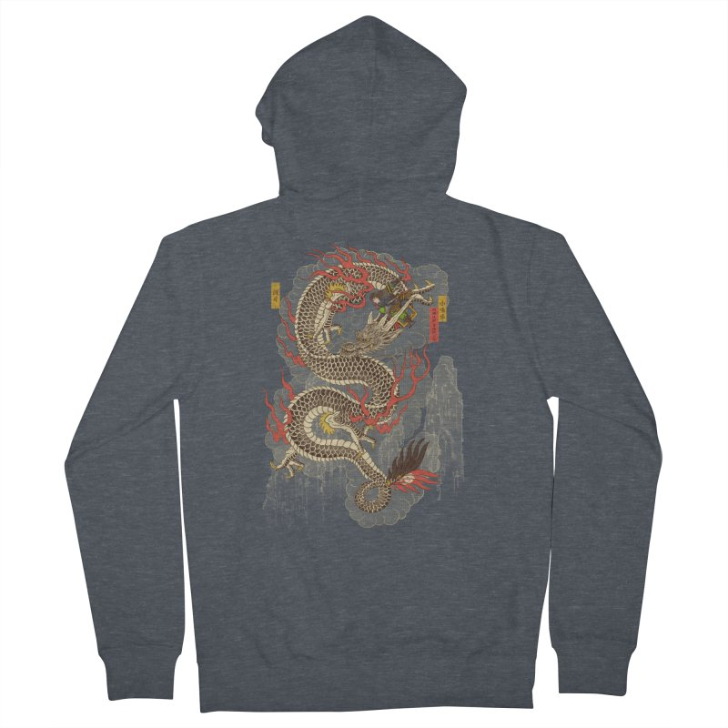 The Dragon Trainer Men's French Terry Zip-Up Hoody by xiaobaosg