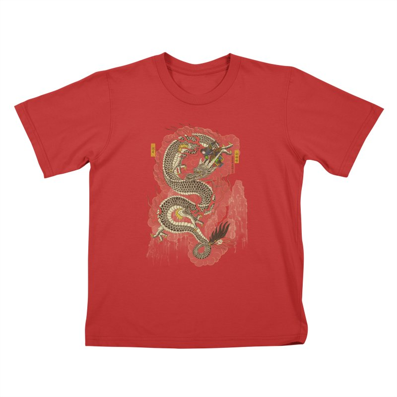 The Dragon Trainer Kids T-Shirt by xiaobaosg