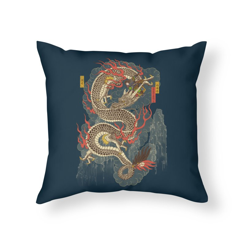 The Dragon Trainer Home Throw Pillow by xiaobaosg