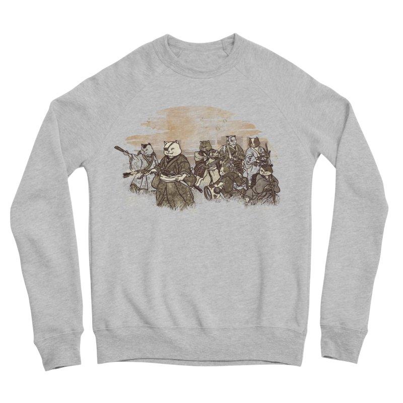 Seven Samurai Cat Men's Sponge Fleece Sweatshirt by xiaobaosg