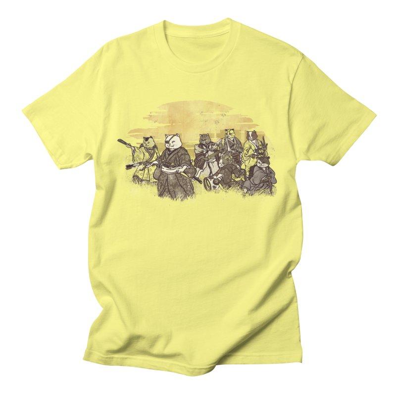 Seven Samurai Cat Men's T-Shirt by xiaobaosg