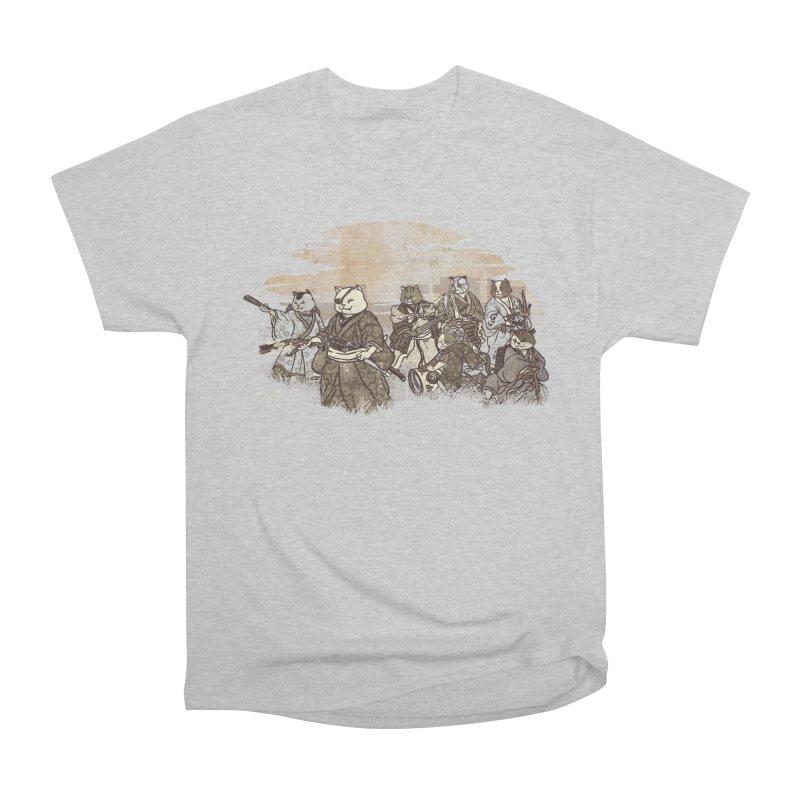 Seven Samurai Cat Women's Heavyweight Unisex T-Shirt by xiaobaosg