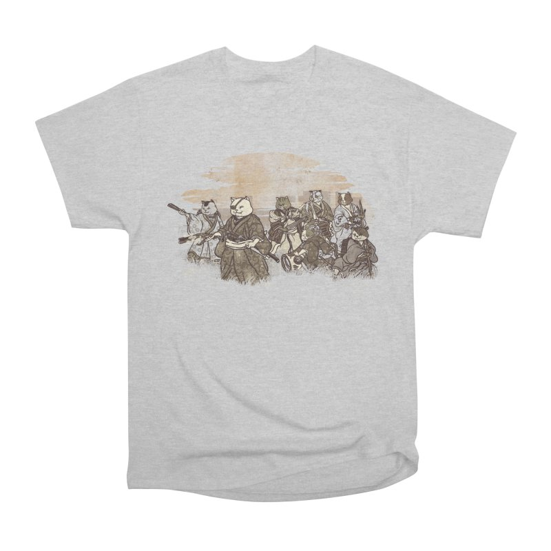 Seven Samurai Cat Men's Heavyweight T-Shirt by xiaobaosg