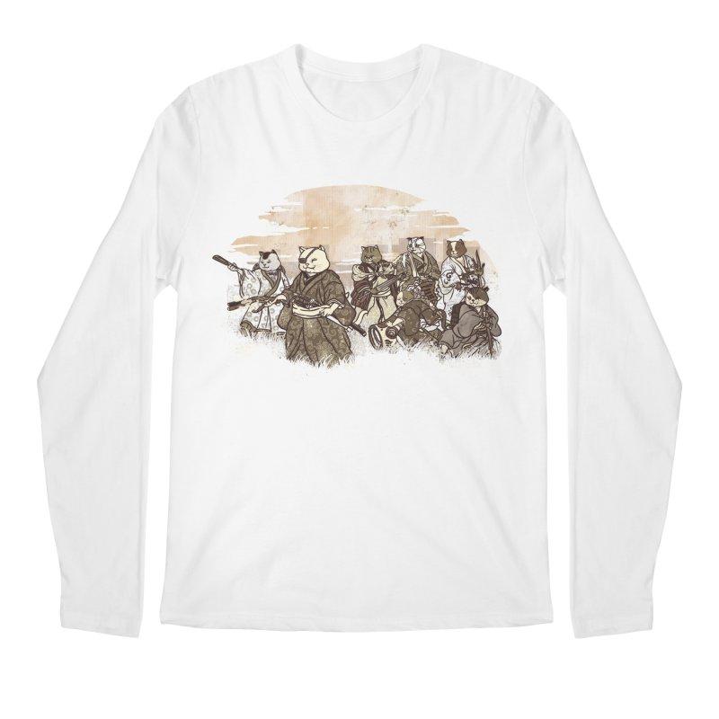 Seven Samurai Cat Men's Regular Longsleeve T-Shirt by xiaobaosg
