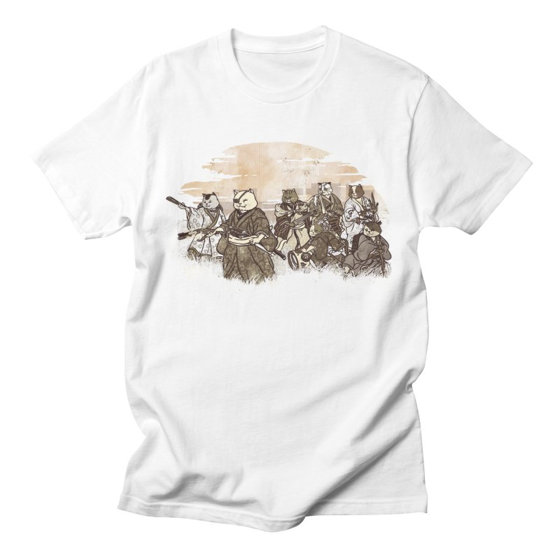 Seven Samurai Cat Men's Regular T-Shirt by xiaobaosg