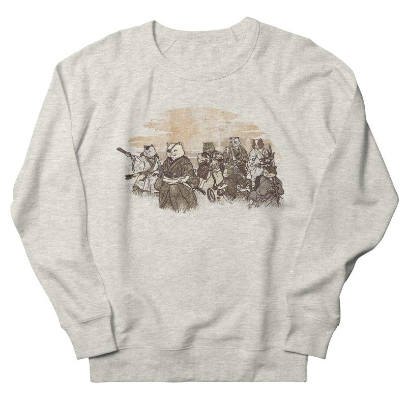 Seven Samurai Cat Women's French Terry Sweatshirt by xiaobaosg