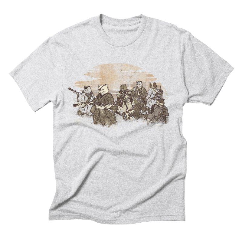 Seven Samurai Cat Men's Triblend T-Shirt by xiaobaosg