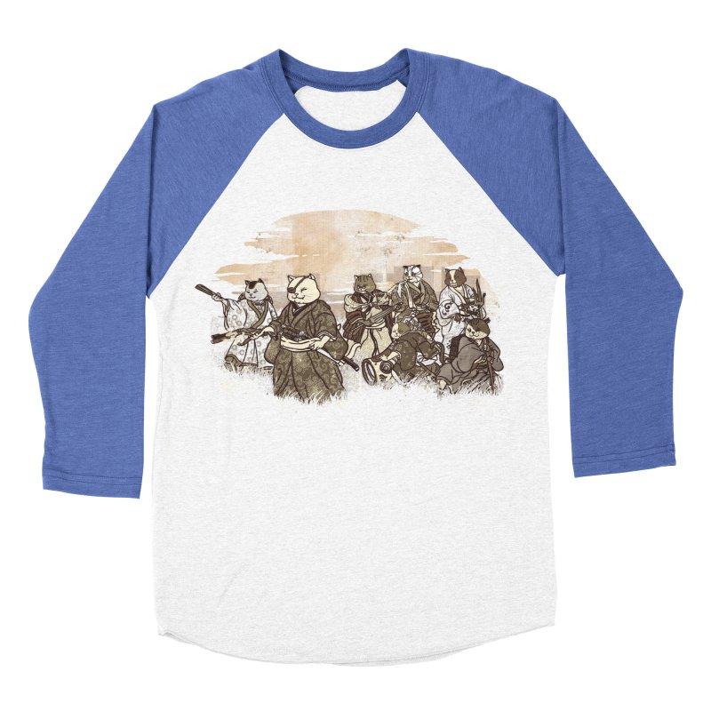 Seven Samurai Cat Women's Baseball Triblend Longsleeve T-Shirt by xiaobaosg