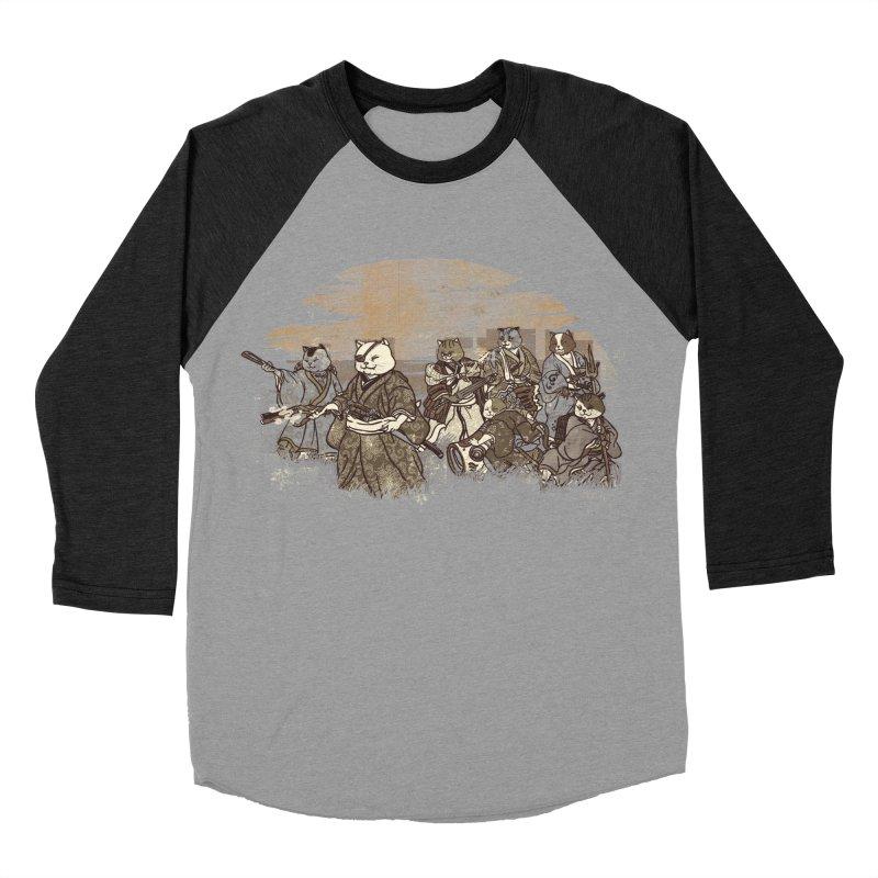 Seven Samurai Cat Men's Baseball Triblend Longsleeve T-Shirt by xiaobaosg